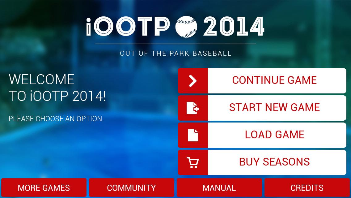 iOOTP 2014 Start Game