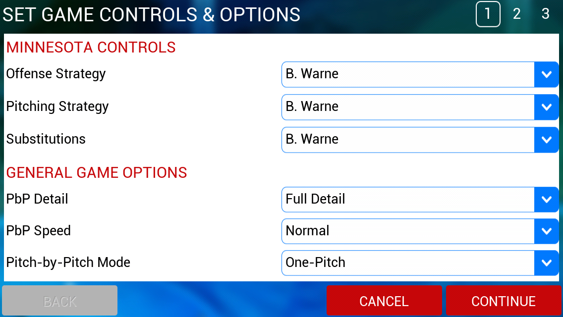 iOOTP 2014 Game Controls