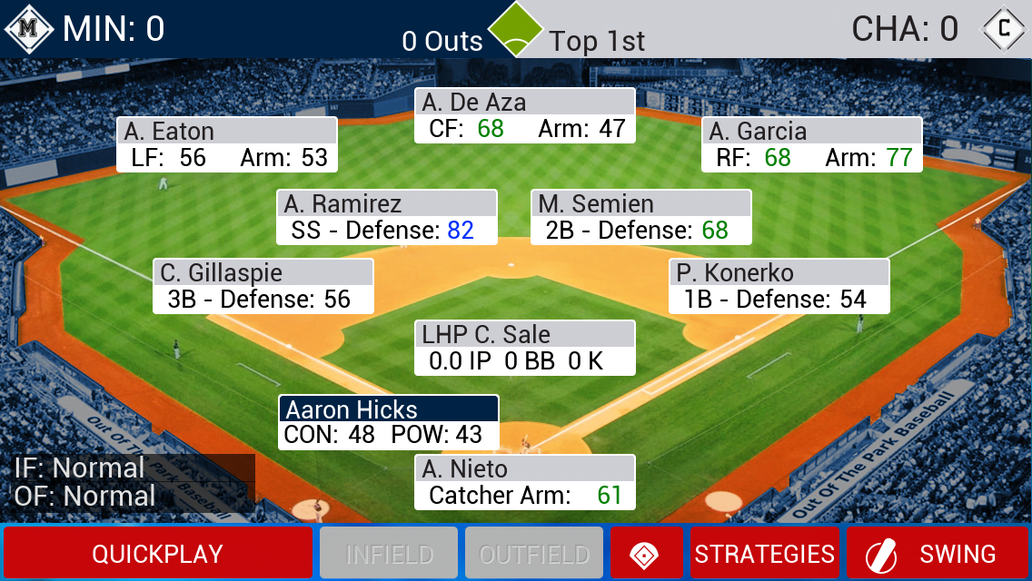 iOOTP 2014 During Game
