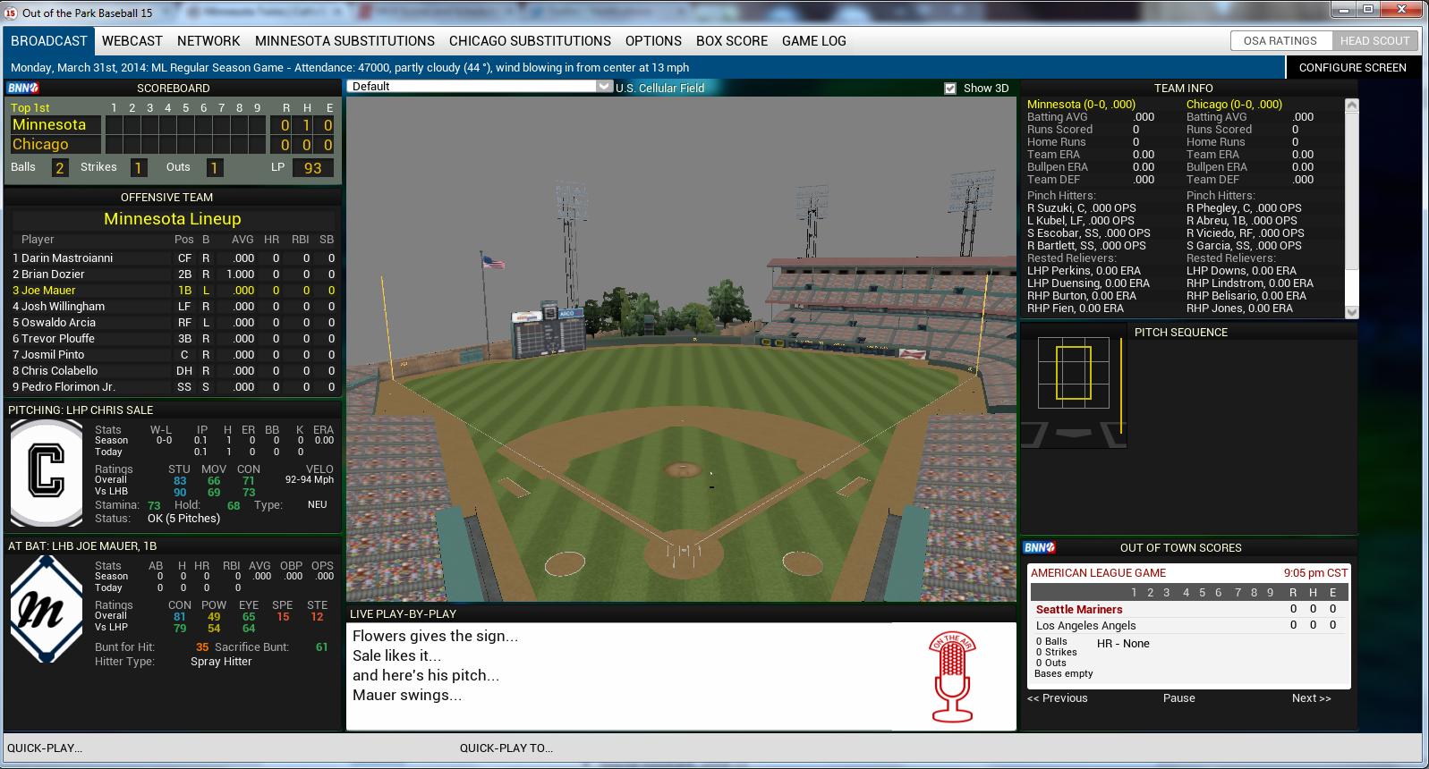 OOTP15 3D Field