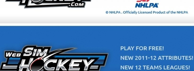 WebSimHockey: Officially Licensed by NHLPA