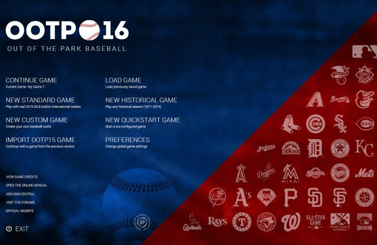 OOTP 16 Features MLB.com, MiLB Licenses