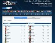 Web Sim Hockey is simulating the NHL's 2012-2013 season