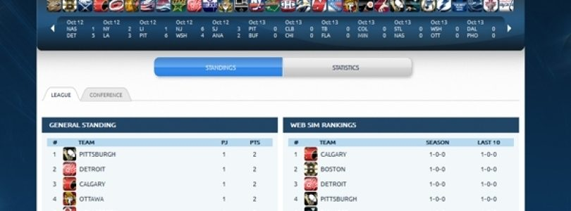 Web Sim Hockey is simulating the NHL's 2012-2013 season