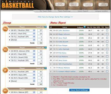 SimLeague Basketball