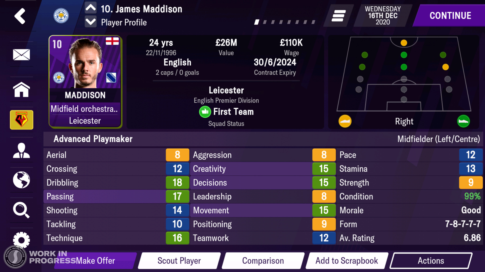 Football Manager Mobile 2021 (Android, iPhone, iPad iOS)