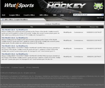 SimLeague Hockey