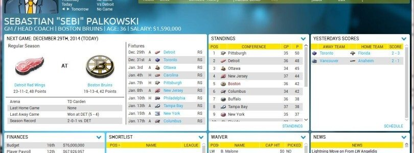(Preview) The goods on Franchise Hockey Manager FHM2 (PC, Mac)