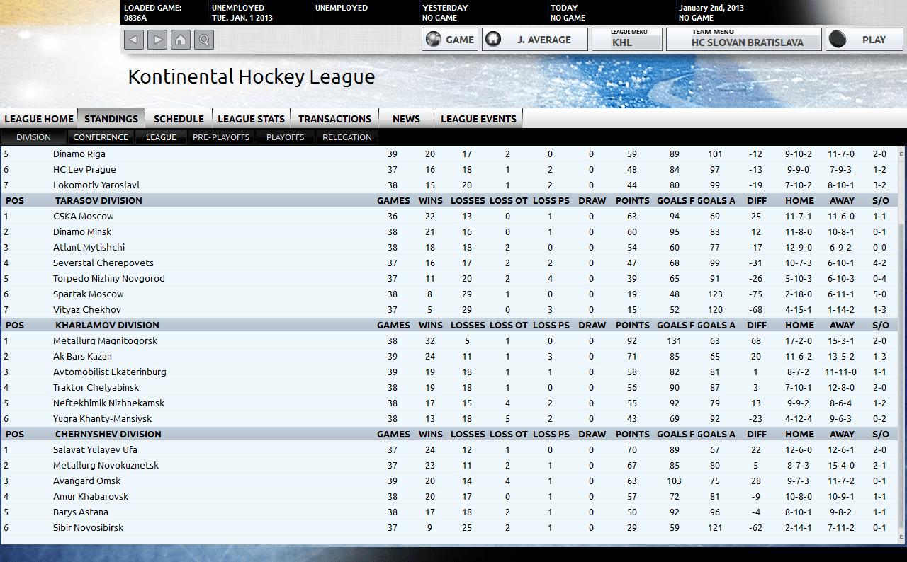 KHL Screenshot