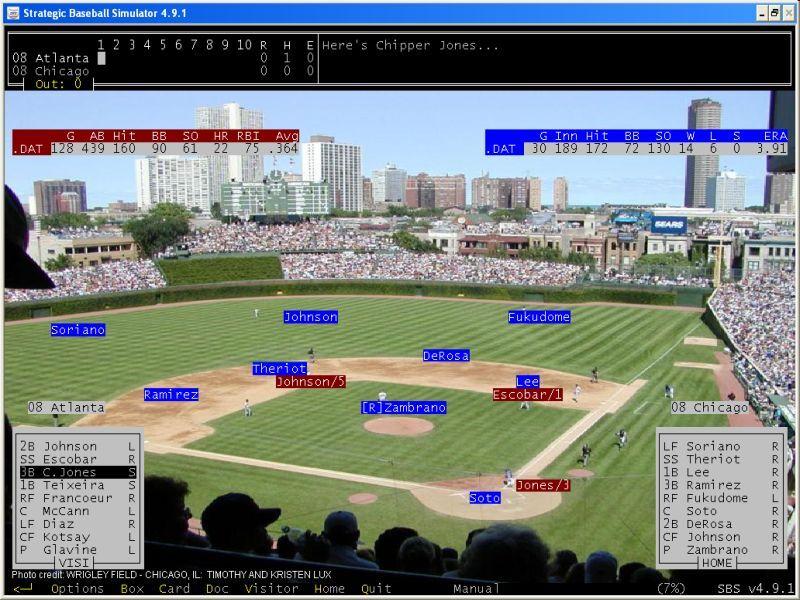 strategic baseball simulator sbs  windows pc  freeware