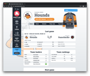 Game Plan Hockey Manager