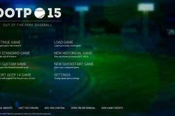OOTP15 welcome screen